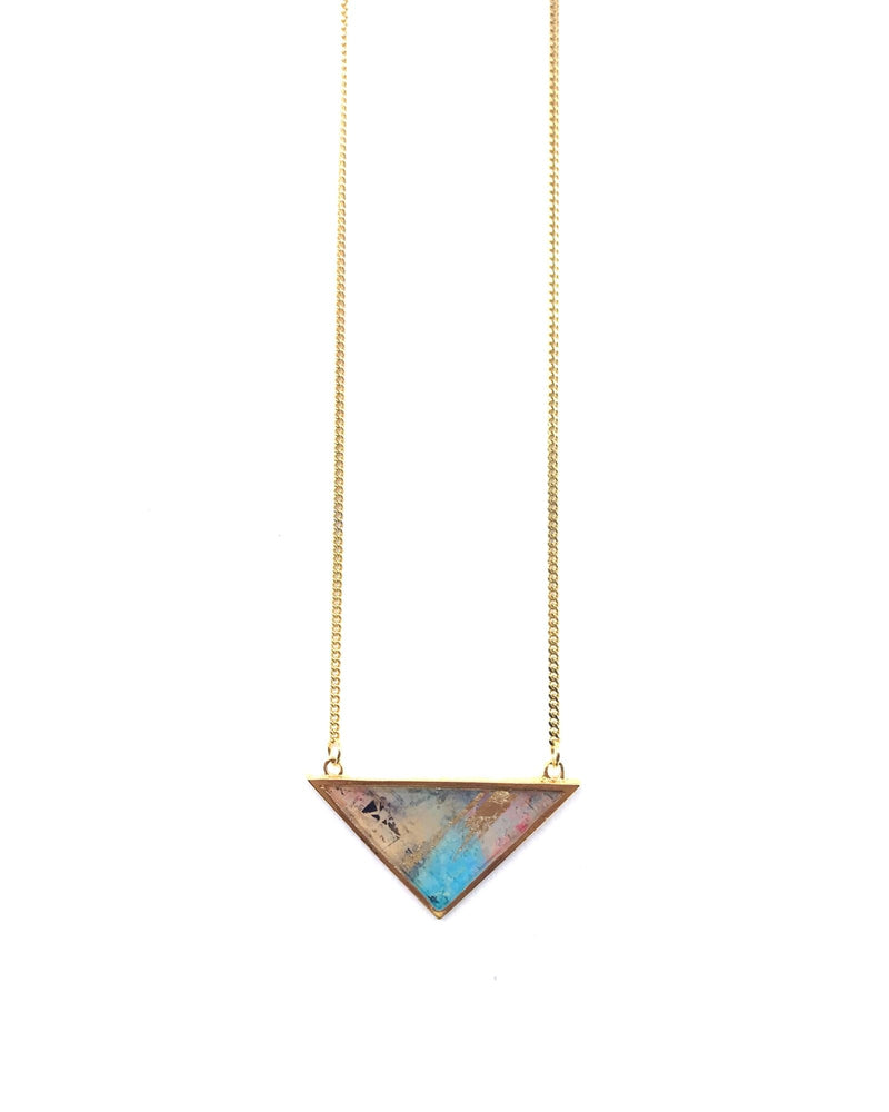 Iris Long Necklace - Gold Plated, Punky
