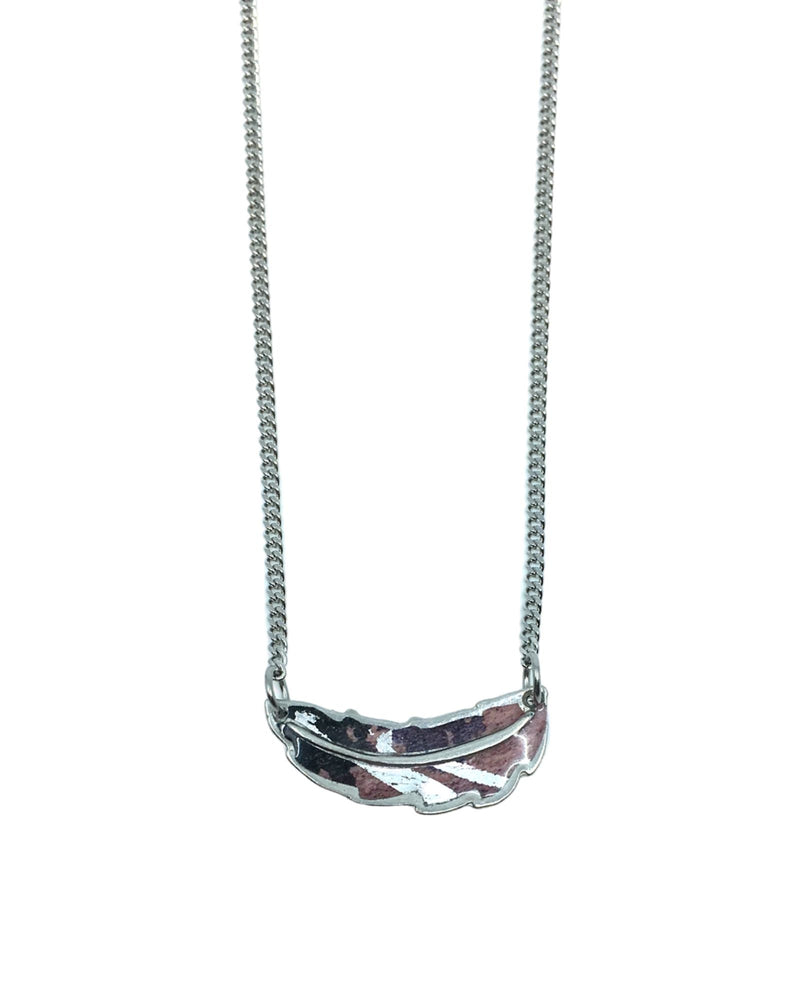 Jemma Necklace - Pewter, Plum