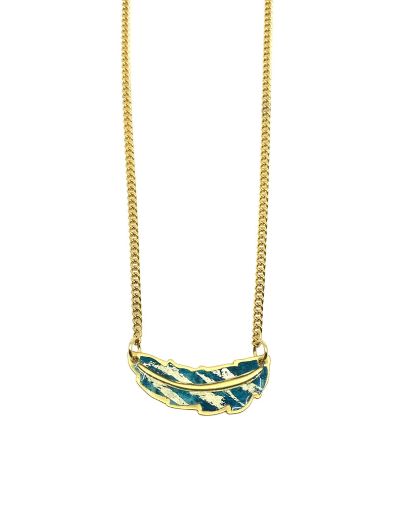 Jemma Necklace - Gold Plated, Turquoise and Gold