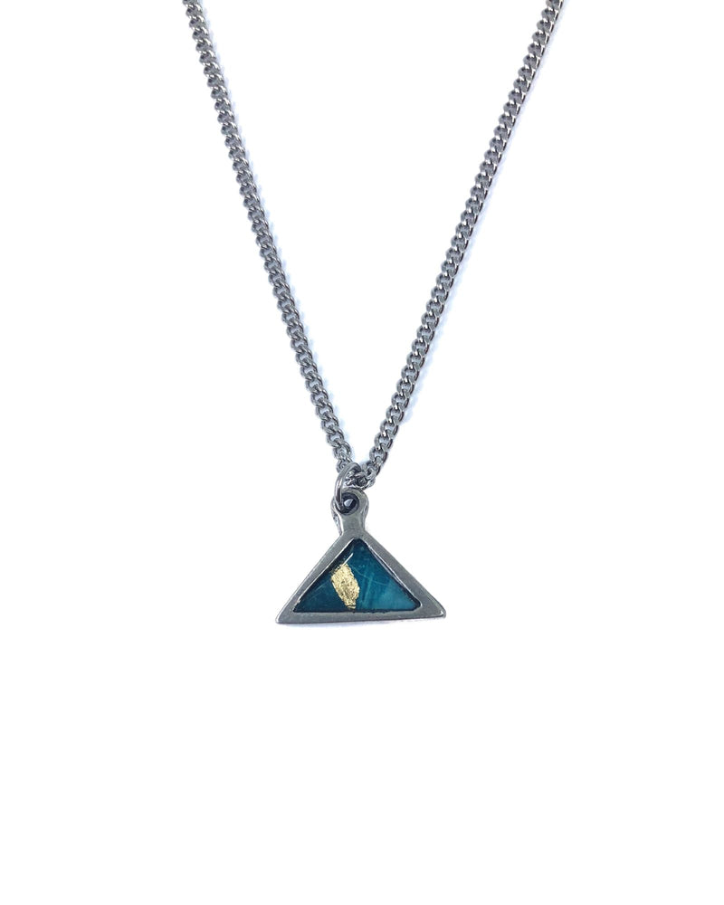 Meli necklace - Pewter, Turquoise and gold