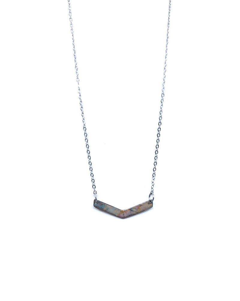 Chevron Necklace - Pewter, Punky Style