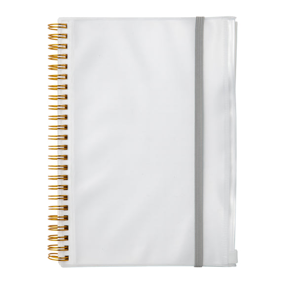 PP notebook with Pocket, White