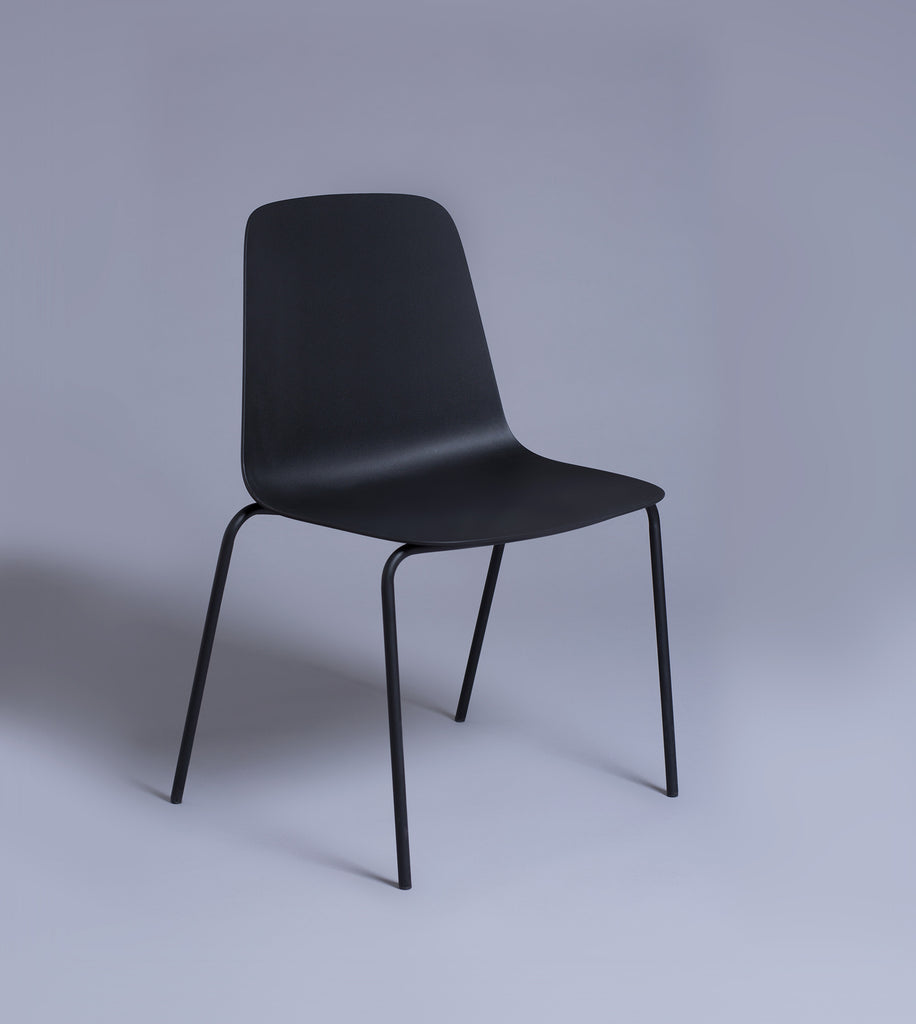 Stacking Side Chair, Black