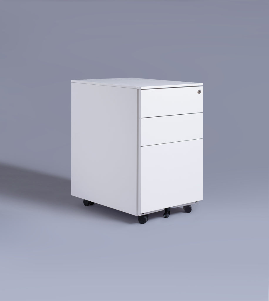Three Drawer Cabinet, White