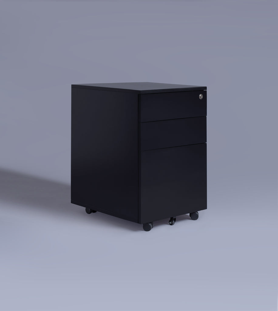 Three Drawer Cabinet, Black