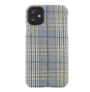 Fabric Case for iPhone 11/Xr - Mustard and Blue Plaid