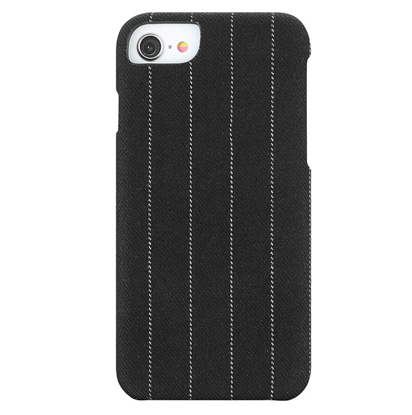 Fabric Case for iPhone 6/7/8 - Charcoal Pinstripe