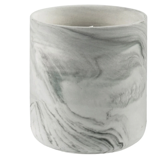 Mini Ceramic Marble Candle, Bergamot Earl Grey