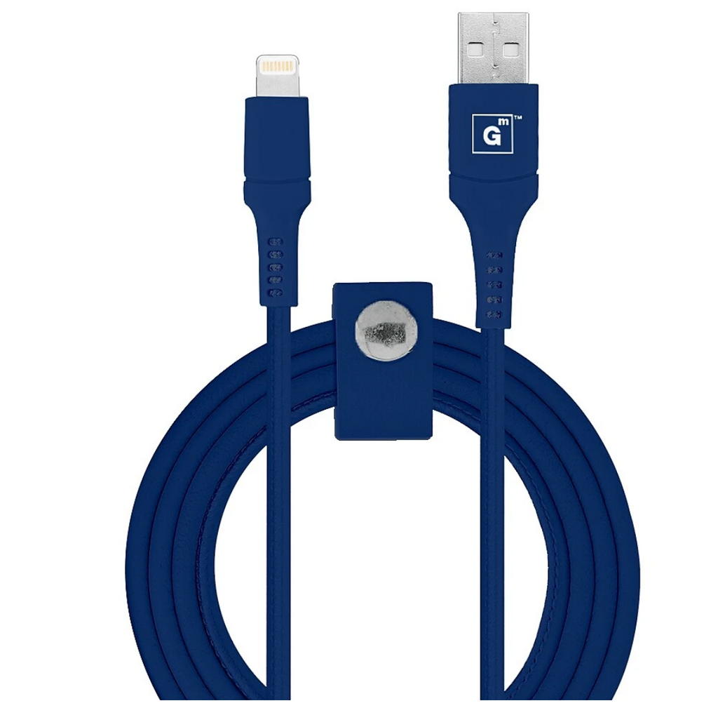 Vegan Leather MFI Lightning 10FT Cable (C89) - Greyish Navy