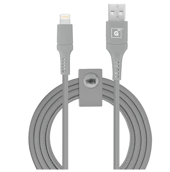 Vegan Leather MFI Lightning 10FT Cable (C89) - Cool Grey