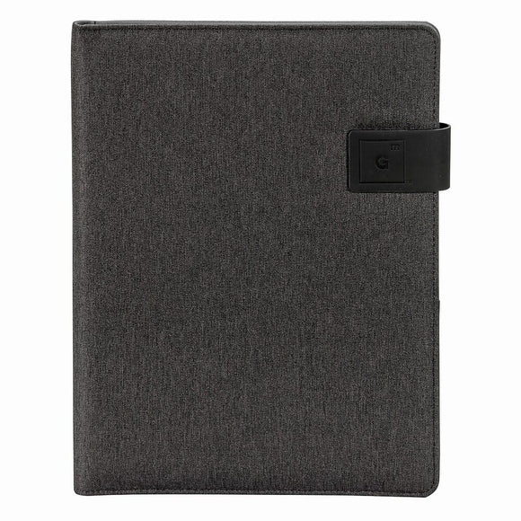 Large Pad Folio Notebook, Black