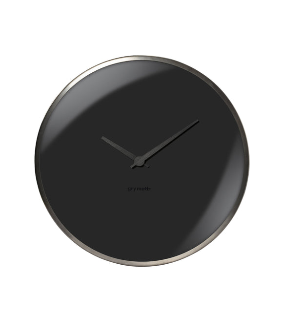 Dome Wall Clock, Black