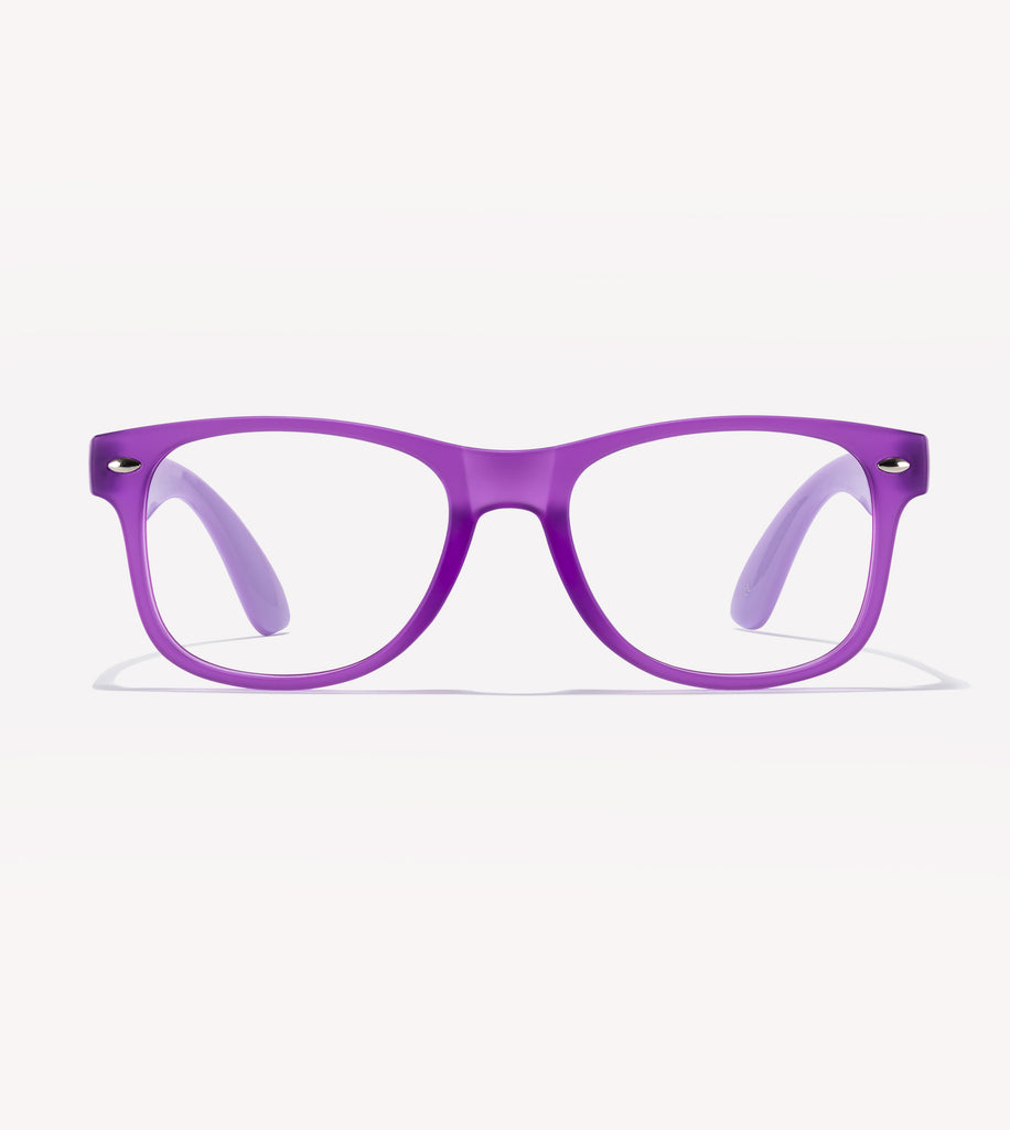Gry Mattr Kids Blue Light Glasses - Happy Bl - +0.00 - Purple