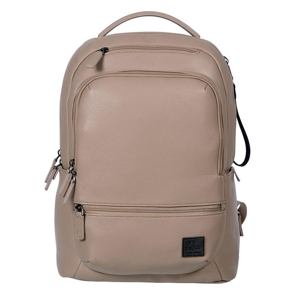 Backpack With USB Port, Taupe