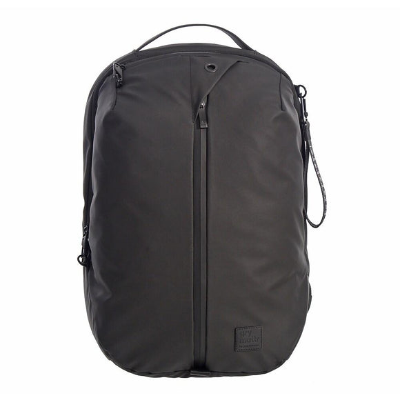 Middle Zipper Compartment Backpack With USB Port, Black