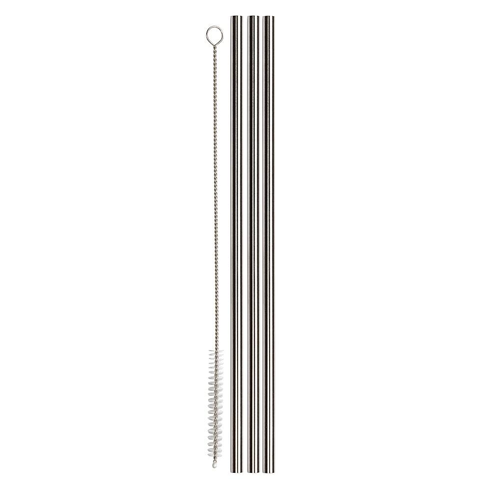 Stainless Steel Straws & Cleaning Brush, 3 Pack