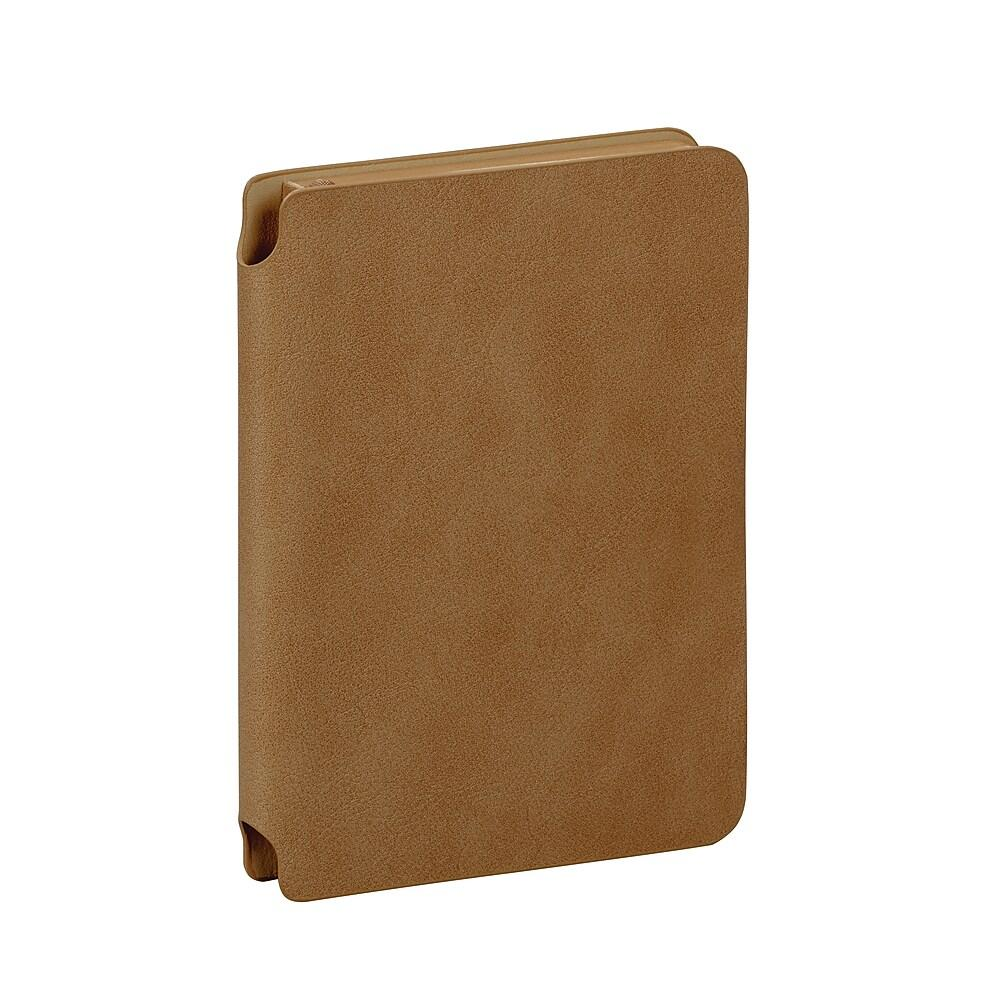 Vegan Leather Pocket Notebook, Camel