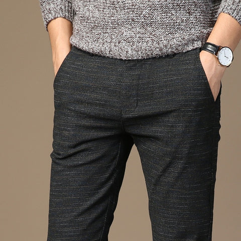 Micro Striped Casual Pant for Mens