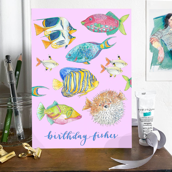 'Birthday Fishes' card