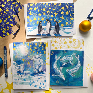 Seals a' Swimming – Christmas Card