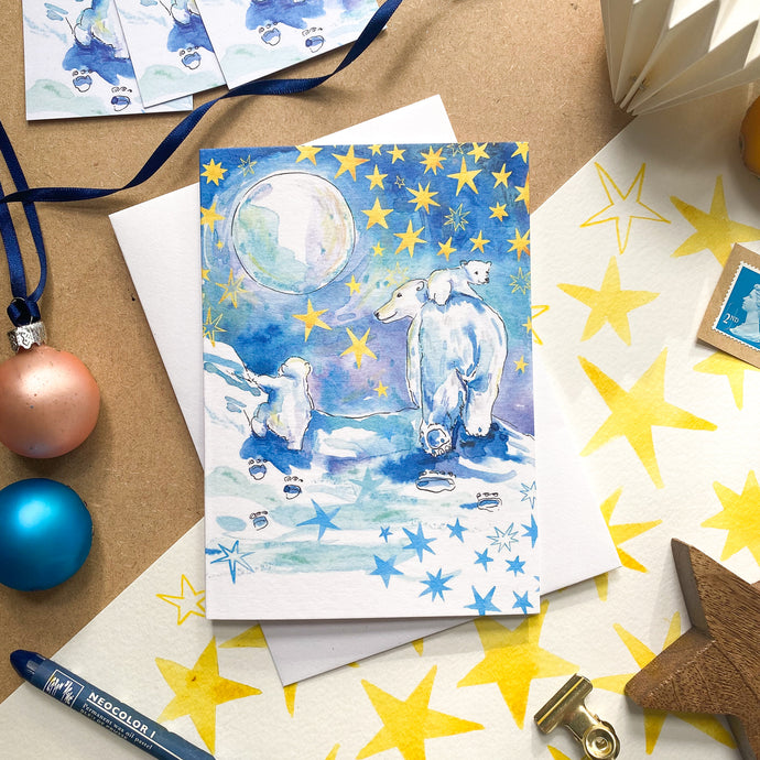Striding Home for Christmas – Christmas Card