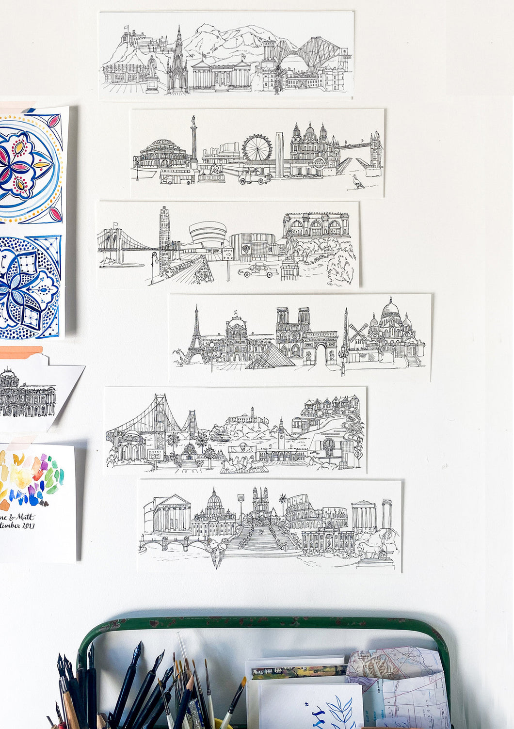 BESPOKE Cityscape - choose your own landmarks!