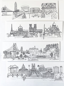 Cityscape print - London, Edinburgh, Paris, Rome, New York, San Francisco