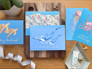Under the Sea thank you cards - set of five