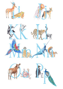 NAME - Personalised Name Print - Animal Alphabet print No.3