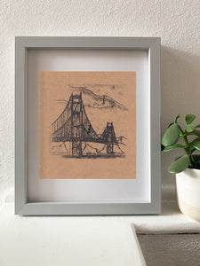 Golden Gate Bridge - monotype