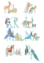 Load image into Gallery viewer, INITIAL - Personalised Initial Print - Animal Alphabet print No.2