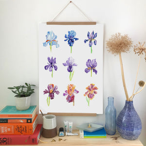 'A Bunch of Irises' print