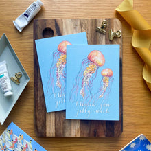 Load image into Gallery viewer, Thank you jelly much - jellyfish card