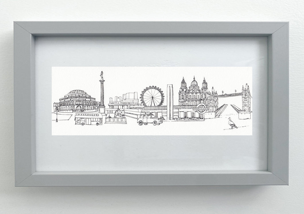London Cityscape giclée print
