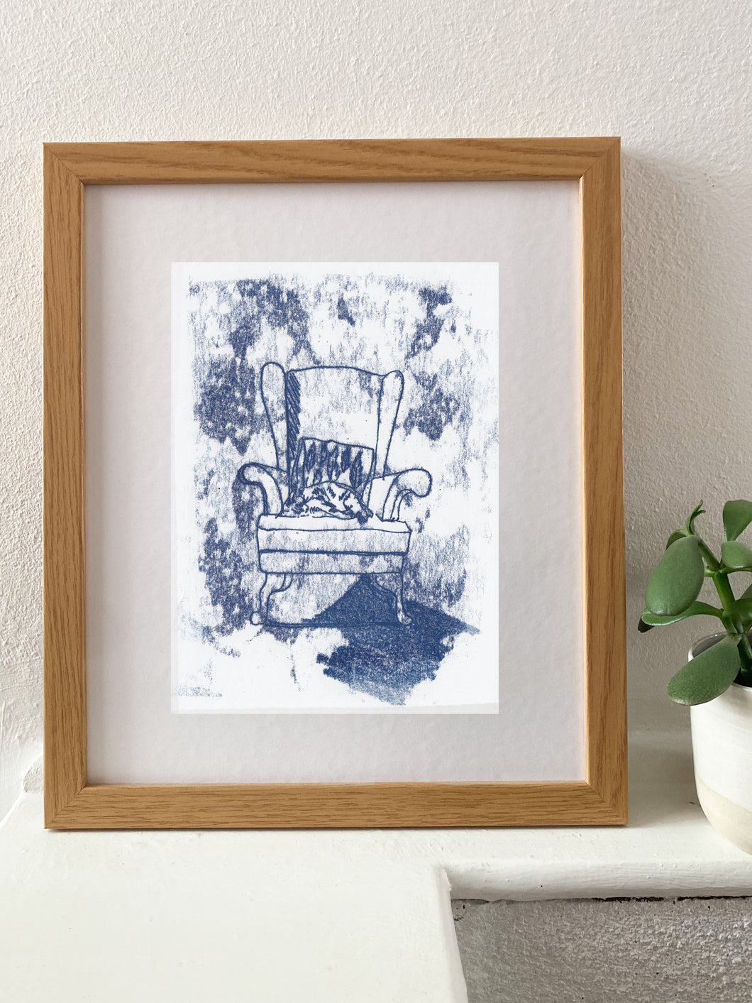 Navy Armchair - monotype