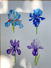 Load image into Gallery viewer, SECOND 'A Bunch of Irises' print A3