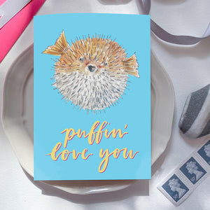 'Puffin Love You' card