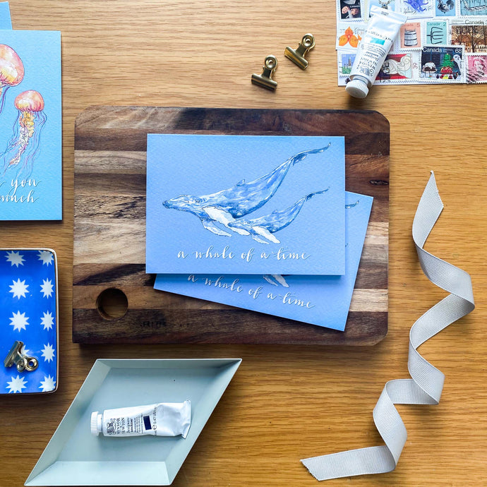 A whale of a time - blue whale card
