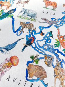 A World of Animals print