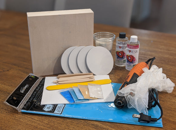 Intro to Resin DIY Kit - Canvas