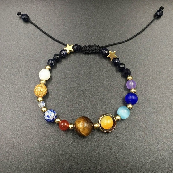 Solar System Bracelet Bangle with natural stones (PROMO!)