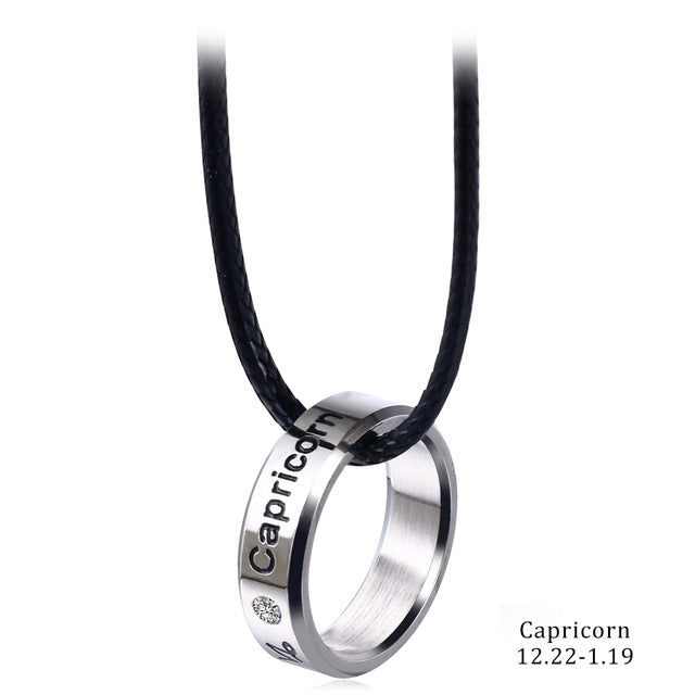 Zodiac ring necklace with 12 constellations (40% OFF today!)