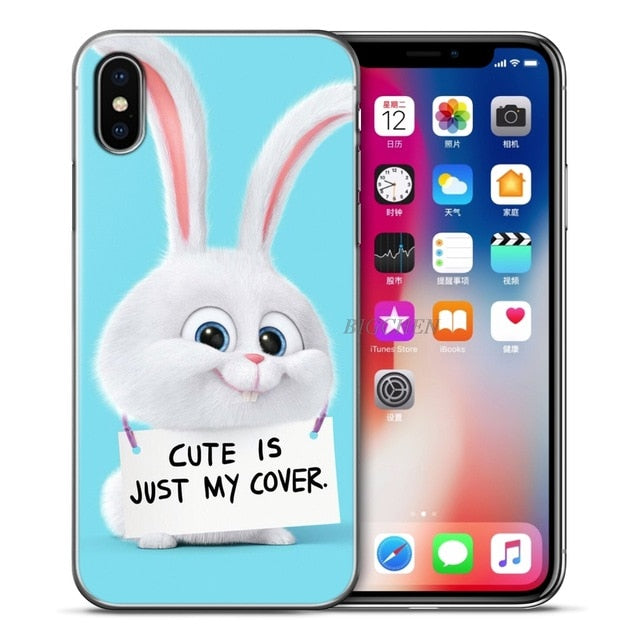 BigChen For Apple iPhones 5 5S SE 6 6S 7 8 Plus X Case Cute Pets Soft Silicone for iphone XS Max XR 5 6 s 7 8 plus Phone shell