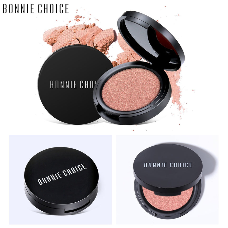 BONNIE CHOICE Makeup Baked Blush 6 Colors Professional Cheek Bronzer Blushe High Quality Make Up Beauty New Fashion Cosmetic