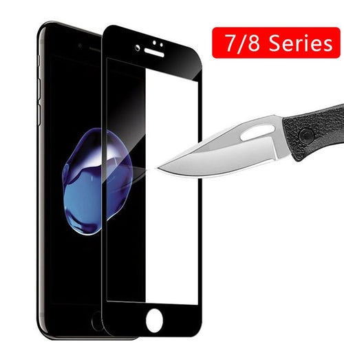 Case On The For Iphone 7 8 Plus 7plus 8plus Full Cover Tempered Glass For Apple Iphone7 Iphone8 I Phone Iphon Screen Protection