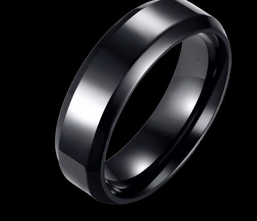 Cyber Men Titanium Black Ring