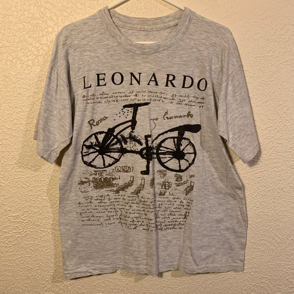 Vintage Leonardo DaVinci Bicycle Art T Shirt