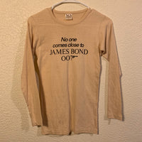 Vintage 80's James Bond 007 Unlimited For Your Eyes Only Long Sleeve T Shirt