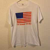 Vintage Try Burning This One! American Flag T Shirt