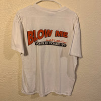 Vintage 90's JIF Blow Me KRNA World Tour T Shirt
